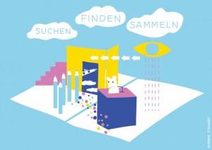 Suchen, Finden, Sammeln ©GfZK, Illustration Wiebke Steinert
